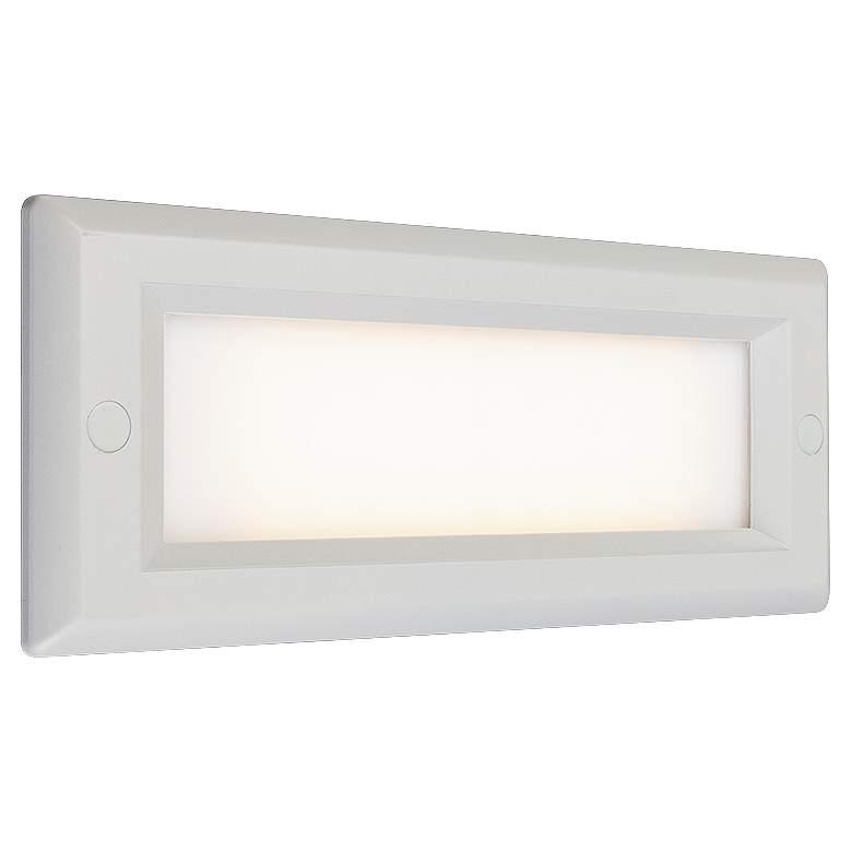 """Bruck Step 8 3/4""""W White Opal Lens Outdoor LED Step Light"""