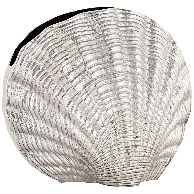"""Shanka Nickel 13"""" Wide Shell Vase"""