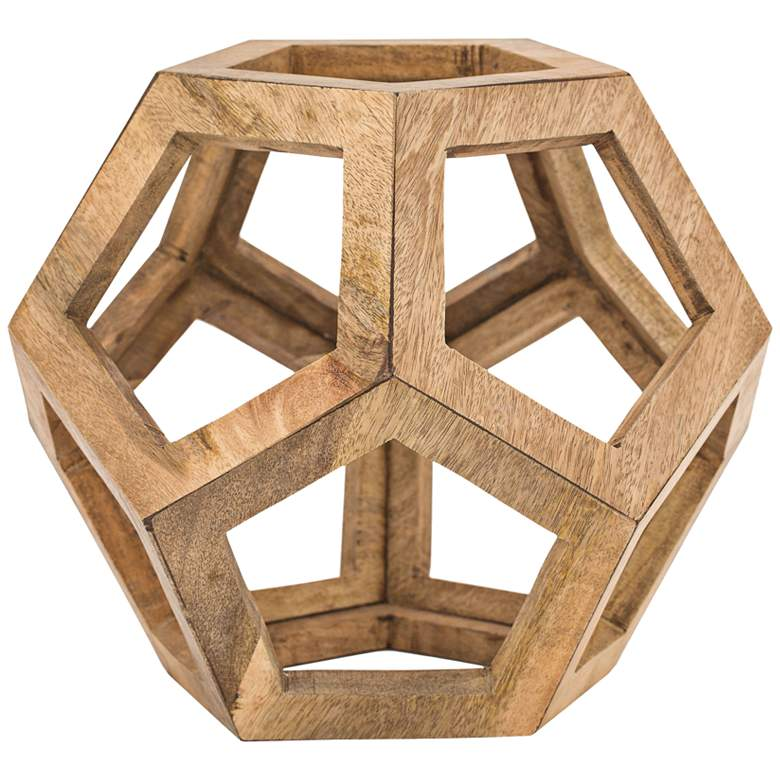 "Highland 15"" High Mango Wood Modern Geometric Sculpture"