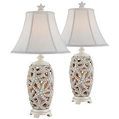 Traditional table lamps classic lamp designs lamps plus avonmore starfish night light table lamp set of 2 mozeypictures Choice Image