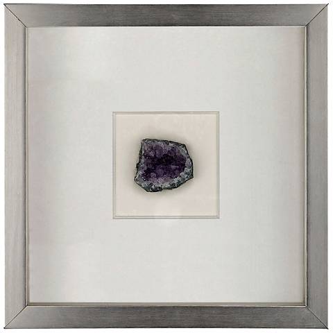 "Artesia 11 3/4"" Square Violet Mineral Wall Art"