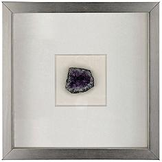 """Artesia 11 3/4"""" Square Violet Mineral Wall Art"""