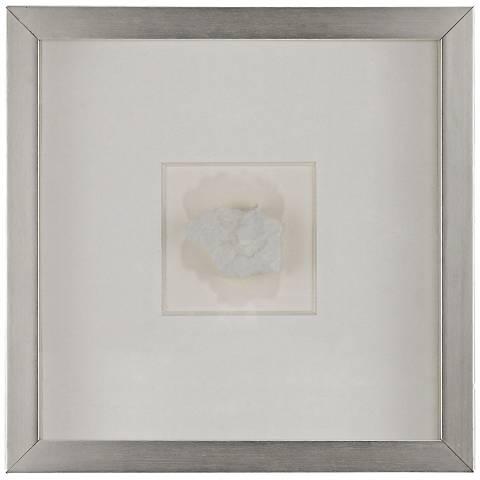 "Artesia 11 3/4"" Square White Mineral Wall Art"