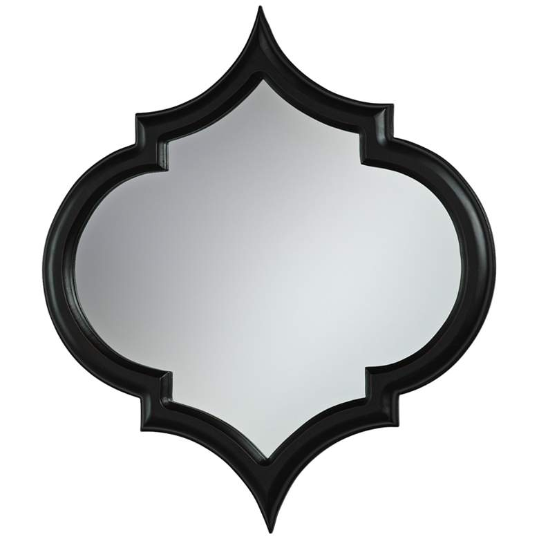 "Cyan Design Corinth Black 22 1/2"" x 25 1/2"" Wall Mirror"