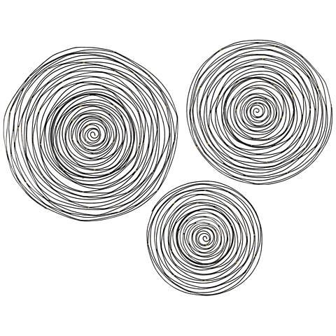 Limerick Triskele 3-Piece Raw Iron Spiral Wall Art Set