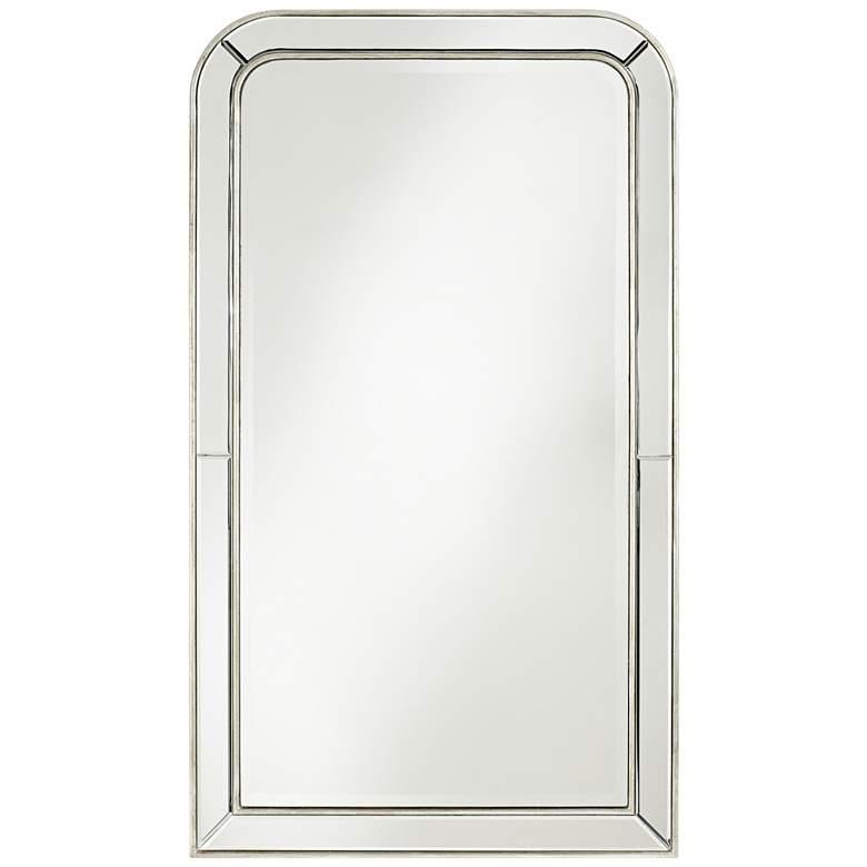 "Possini Finnley Champagne 26"" x 45"" Frameless Wall Mirror"