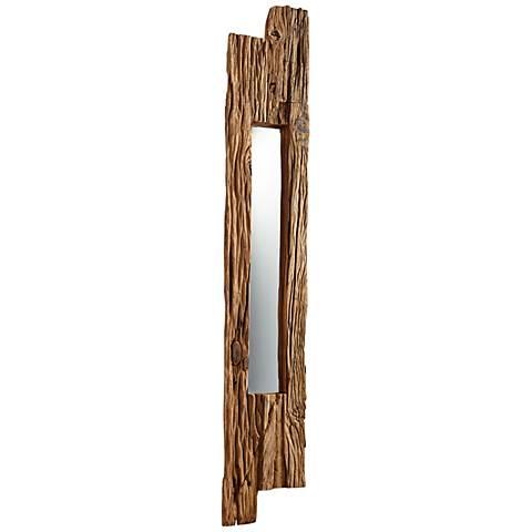 """Cyan Design Janus Walnut 11 1/4"""" x 67 3/4"""" Wall Mirror"""