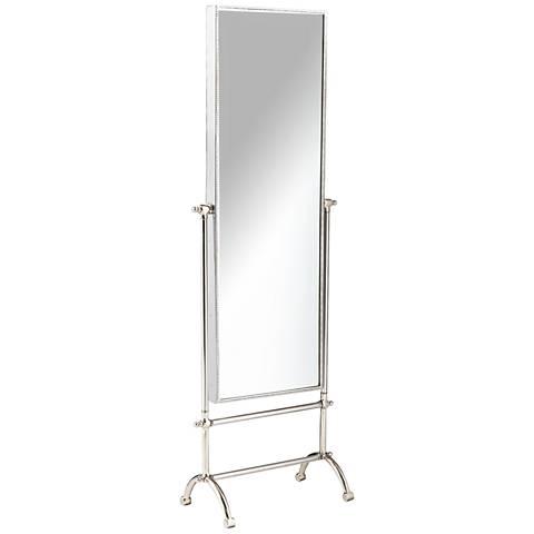 "Cassius Steel 19 1/4"" x 58 1/4"" Full Length Floor Mirror"
