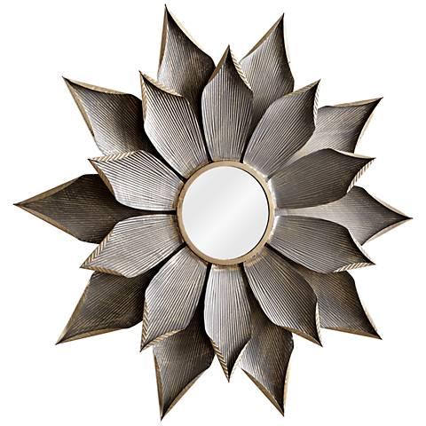 """Cyan Design Blossom Graphite 38 1/4"""" Round Wall Mirror"""