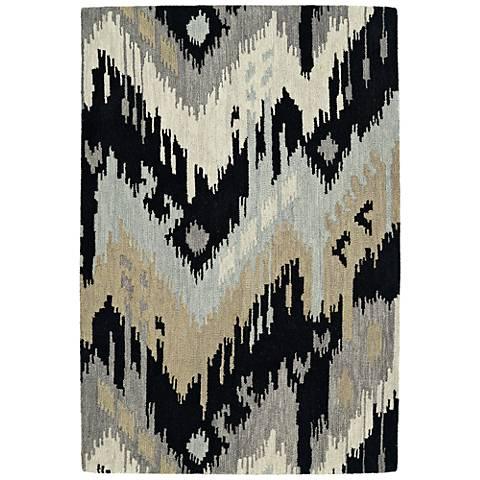 Kaleen Casual 5054-02 Black Wool Area Rug