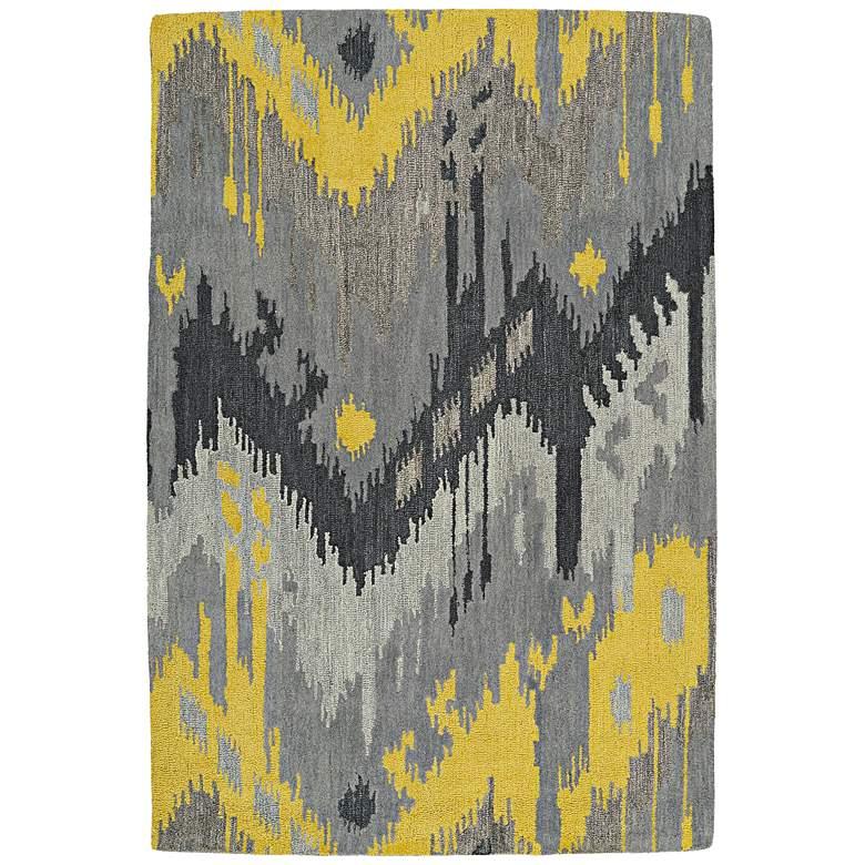 """Kaleen Casual 5054-75 5' x 7'6"""" Gray Wool Area Rug"""