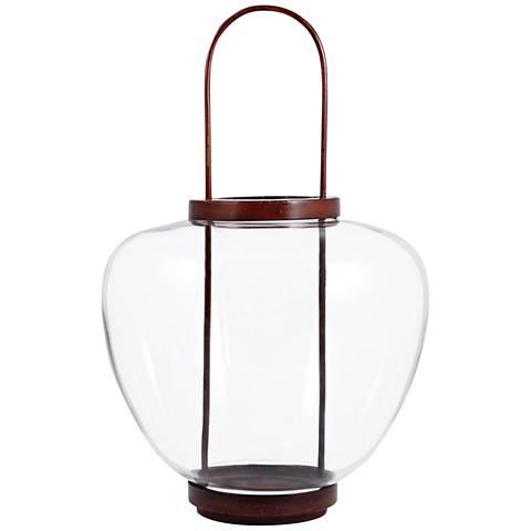 Ballantine Montana Rustic Clear Lantern Pillar Candle Holder