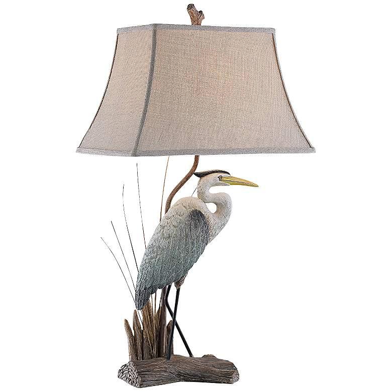 Arapuni Natural Heron Bird Table Lamp