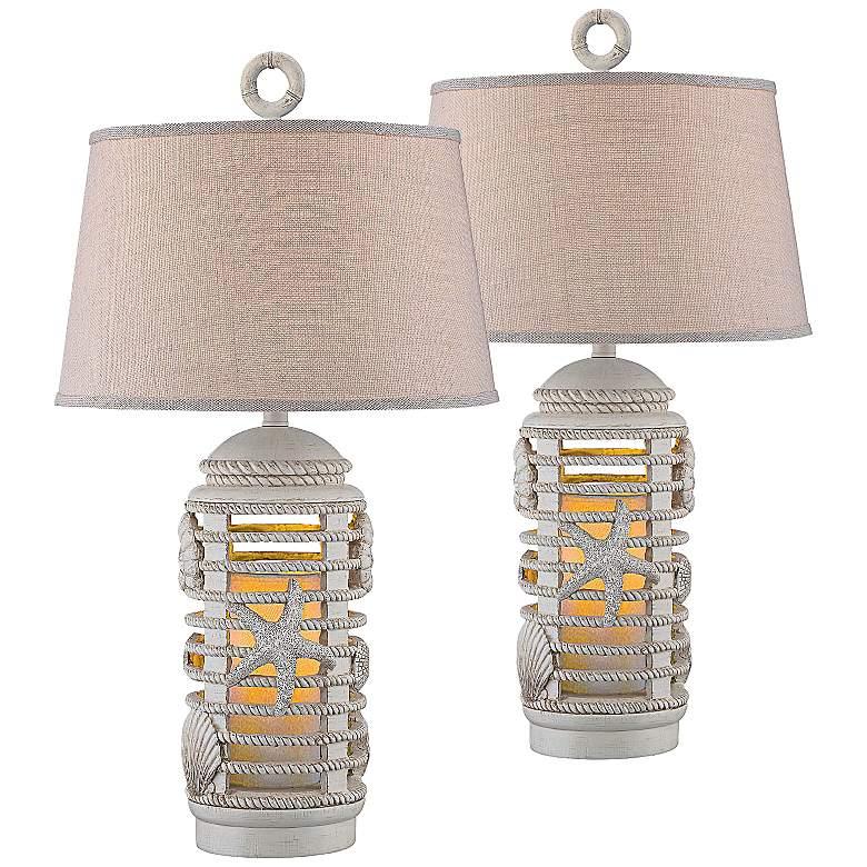 Herriot Ocean Lantern Night Light Table Lamp Set of 2