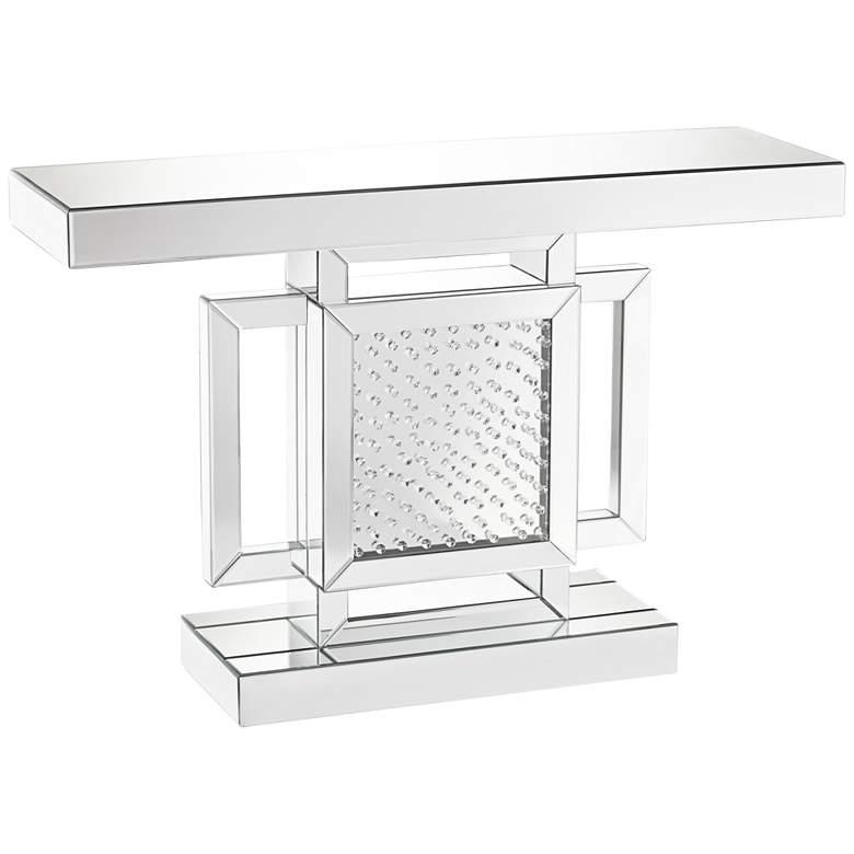 "Fostoria 47 1/4"" Wide Silver-Mirror Crystal Console Table"