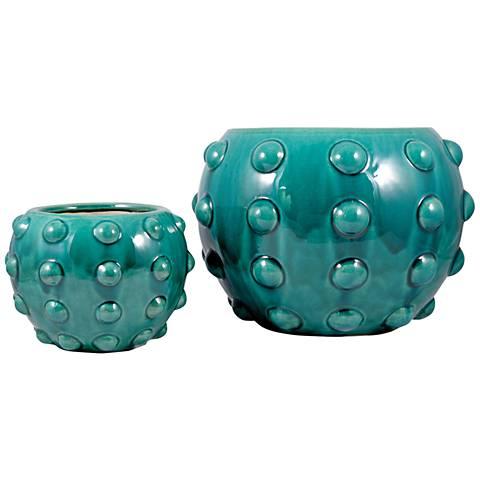 Aquatica Aquamarine Ceramic Planter Set of 2