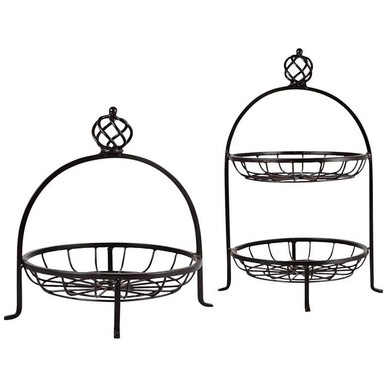 Regency Rustic 2-Piece Fruit and Double Utility Basket Set