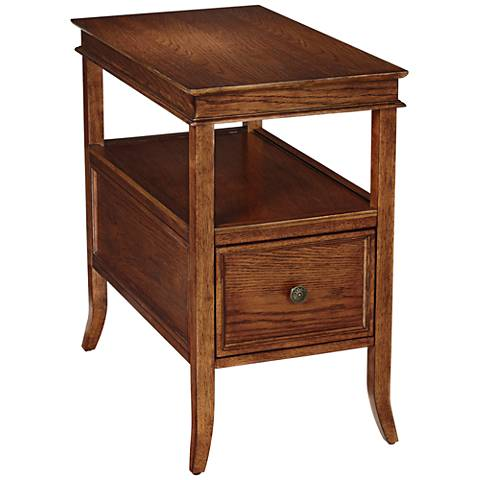 Asheville Americana Cherry Narrow Chairside Table