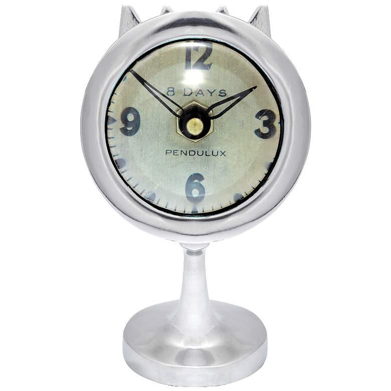"Airstream 7"" High Aluminum Potato Baker Retro Table Clock"