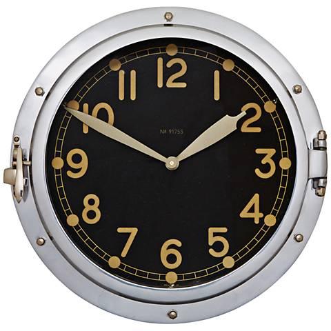 """Airship 14 1/2""""H Aluminum US Military Replica Wall Clock"""