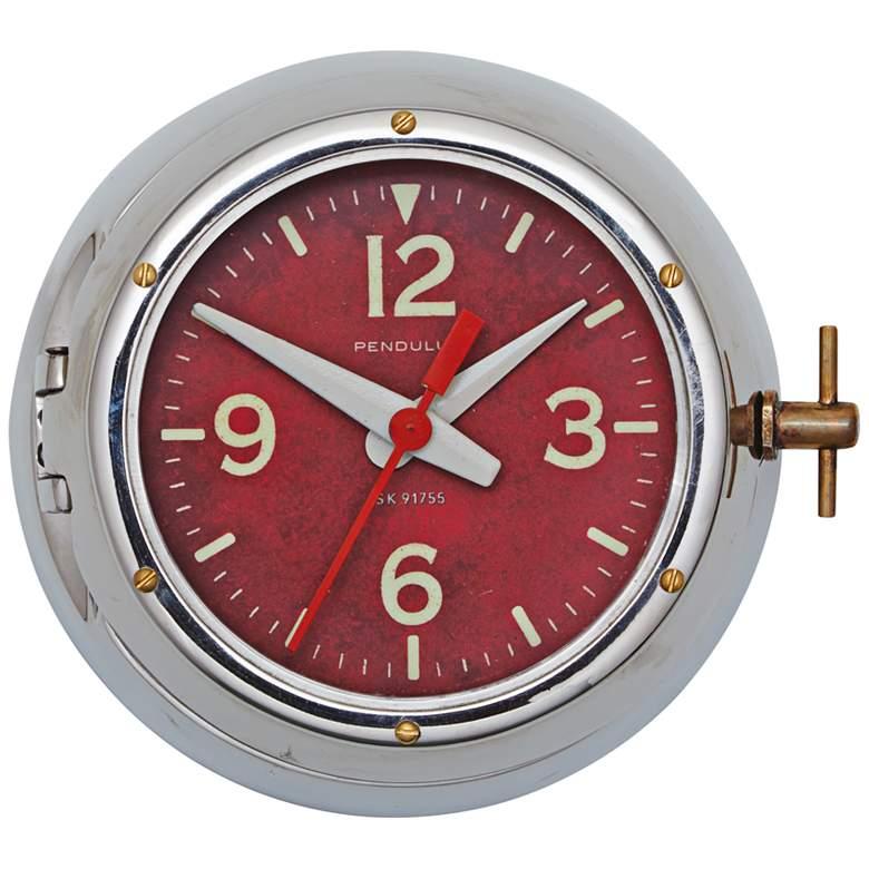"Deep Sea 9"" Wide Aluminum Cold War Submarine Wall Clock"