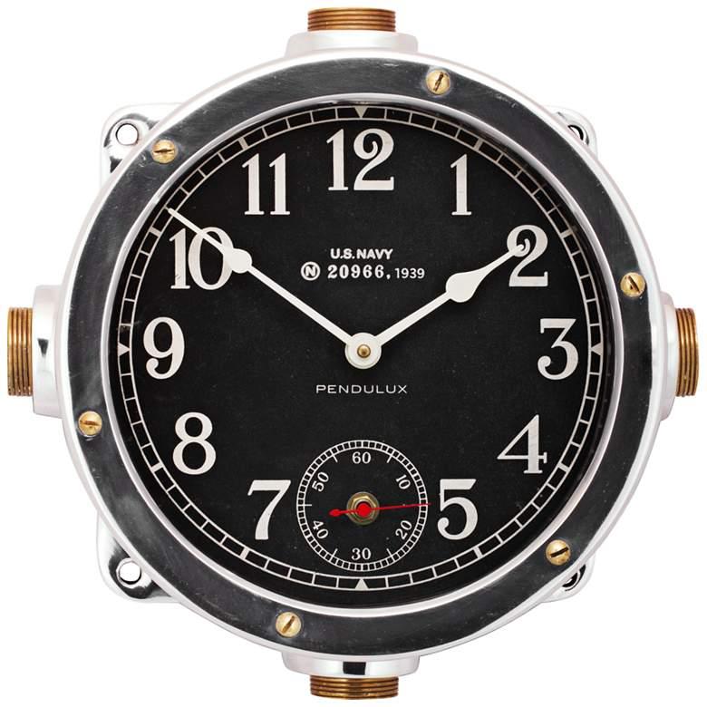 "Navy 12"" Wide US Navy Master Ship Replica Wall Clock"