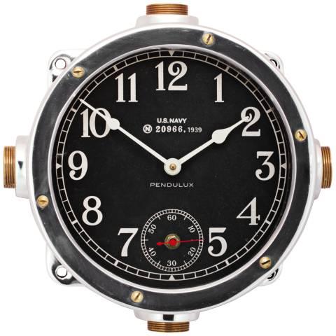 Navy 12 Quot W Aluminum Us Navy Master Ship Replica Wall Clock