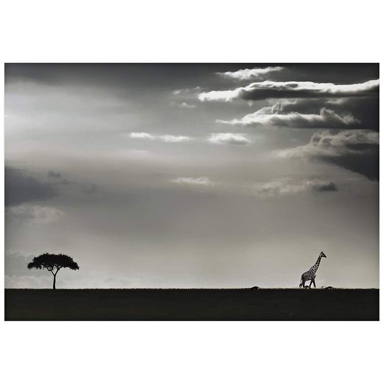 "Giraffe on the Horizon 32"" Wide Wall Art"