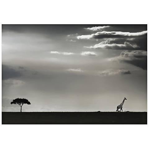 "Giraffe on the Horizon 32"" Wide Wall Art Print"