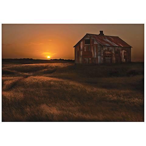 """September Barn 32"""" Wide Wall Indoor or Outdoor Art Print"""