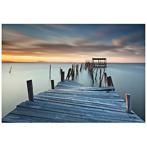 "Collapsed Dock 32"" Wide Wall Art Print"