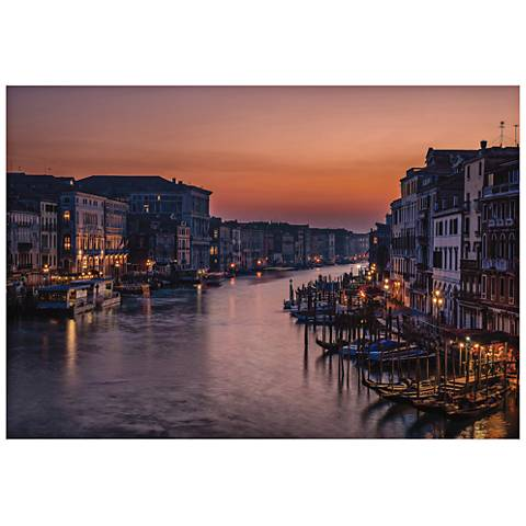 "Venice Grand Canal 32"" Wide Wall Art Print"