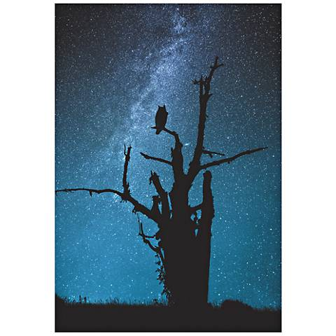 "Alone in the Dark 32"" High Giclee Metal Wall Art"
