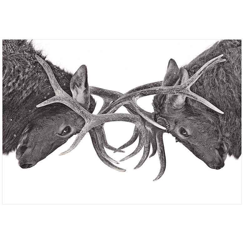 "Antler to Antler 32"" Wide Giclee Metal Wall"