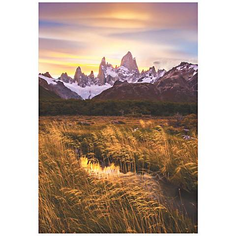 "Fitz Roy at Golden Hour 32"" High Giclee Metal Wall Art"