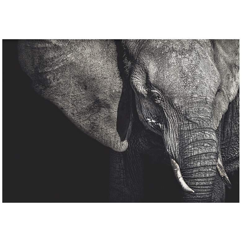 """The Matriarch Elephant 32"""" Wide Giclee Metal Wall Art"""