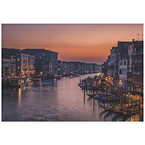 "Venice Grand Canal 32"" Wide Giclee Metal Wall Art"