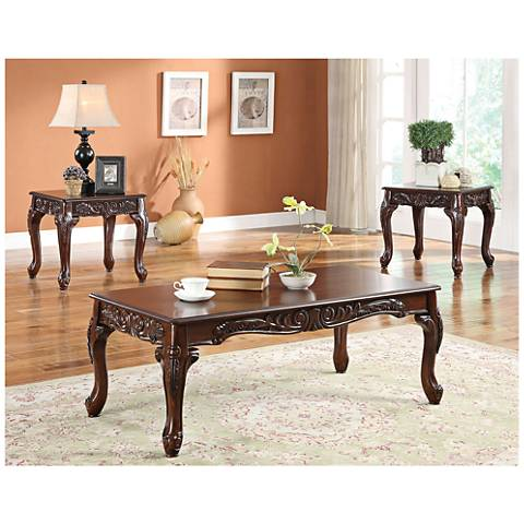 Daniels Light Brown 3-Piece Coffee Table/End Tables Set