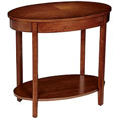 Delaney Oval Wood Accent Table