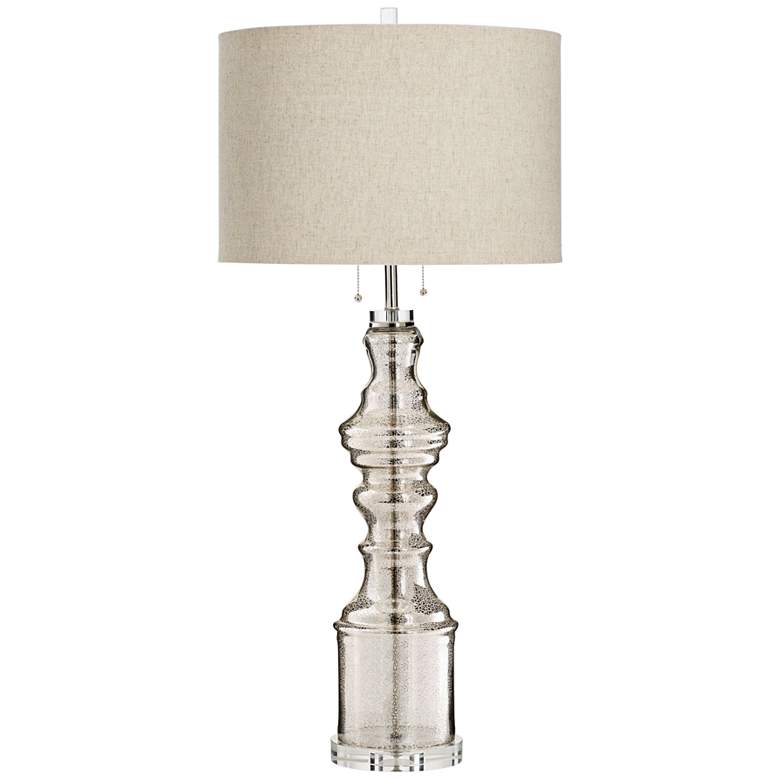 Robin Clear Glass 2-Light Candlestick Table Lamp