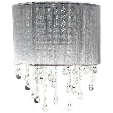 """Avenue Beverly Dr. 14"""" High Silver Silk String Wall Sconce"""