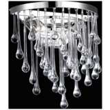 """Hollywood Blvd. 14"""" High Polished Nickel Round Wall Sconce"""