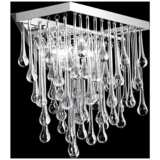 """Hollywood Blvd. 14"""" High Polished Nickel Square Wall Sconce"""