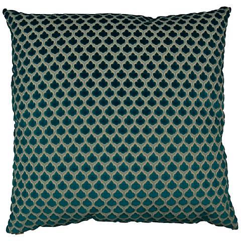 "Posh Turquoise 24"" Square Decorative Throw Pillow"