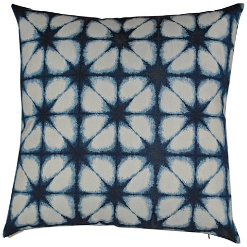 Aretha Blue Square Decorative Throw Pillow