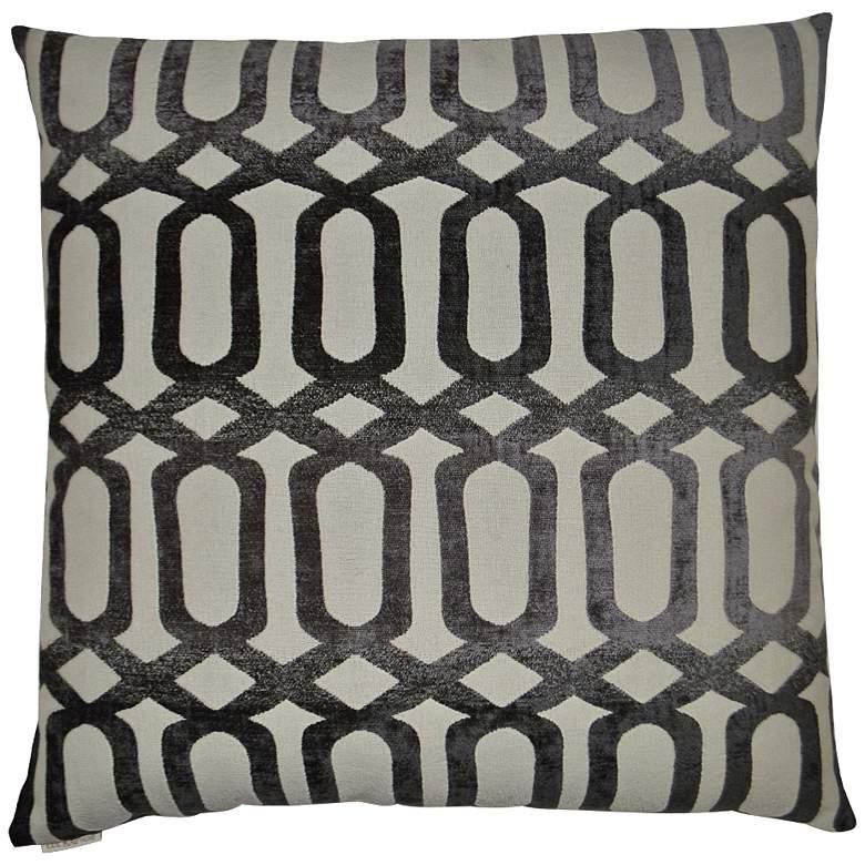 "Nakita Gray 24"" Square Decorative Throw Pillow"