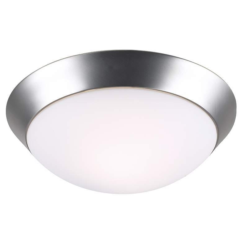 """Davis 11"""" Wide Brushed Nickel Ceiling Light Fixture"""