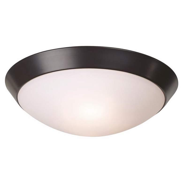 "Davis 13"" Wide Oil-Rubbed Bronze Ceiling Light Fixture"