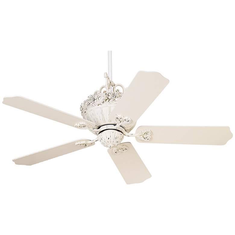 "52"" Casa Chic™ Rubbed White Ceiling Fan"