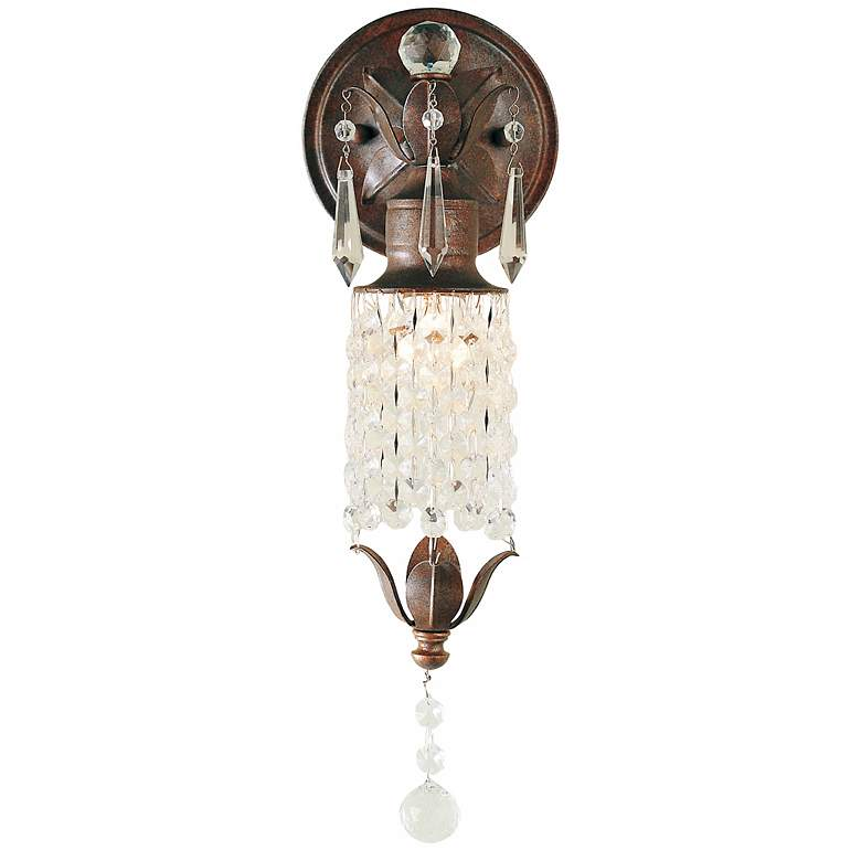 "Maison de Ville Collection 14"" High Crystal Wall Sconce"